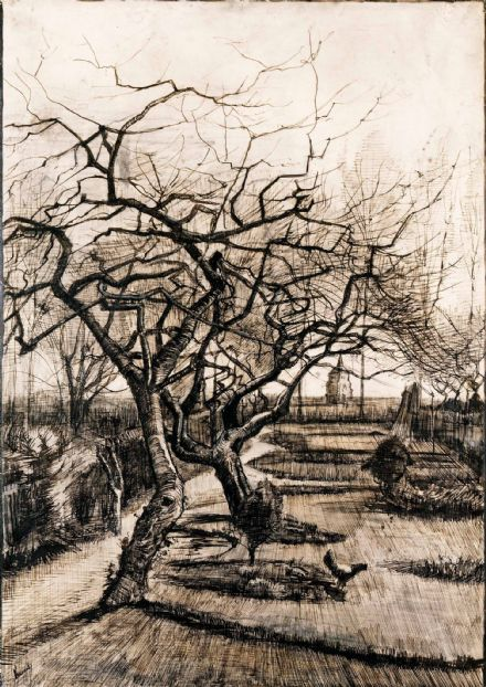 Van Gogh, Vincent: The Parsonage Garden at Nuenen in Winter. Fine Art Print/Poster. Sizes: A4/A3/A2/A1 (004064)